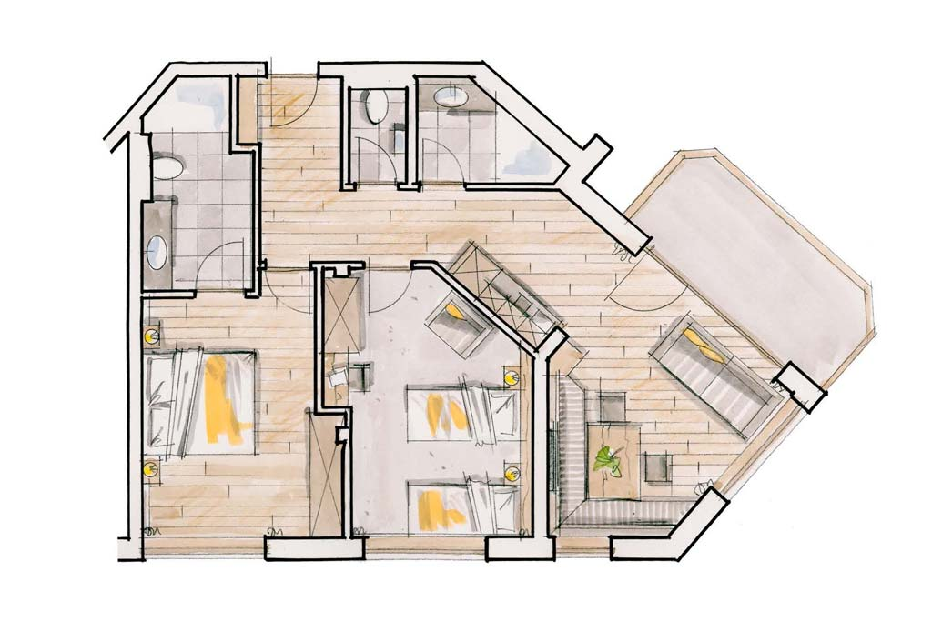 Stacherhof Zillertal | Chalet-Suite | Layout